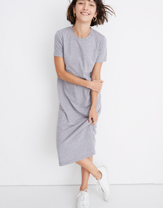 Rivet & Thread Tee Dress in hthr grey image 1