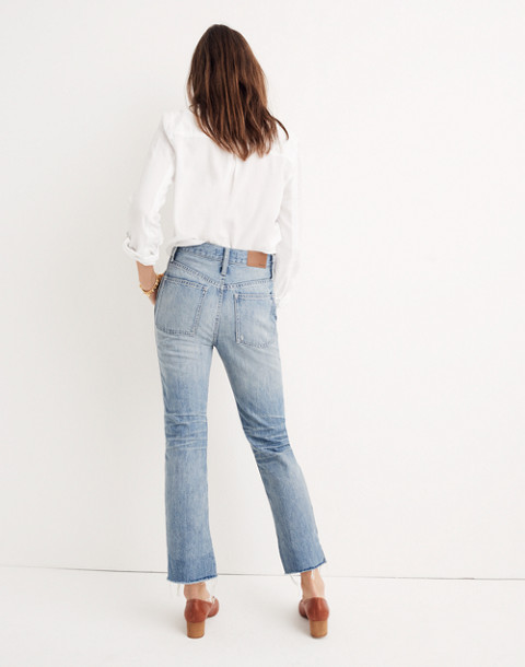 Tall Rigid Demi-Boot Crop Jeans in rowes wash image 3