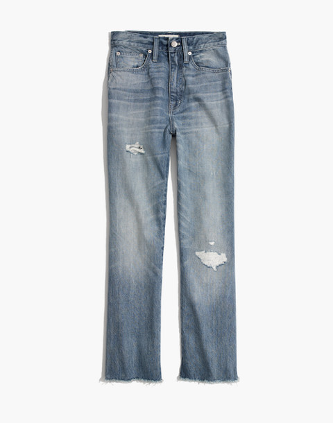 Tall Rigid Demi-Boot Crop Jeans in rowes wash image 4