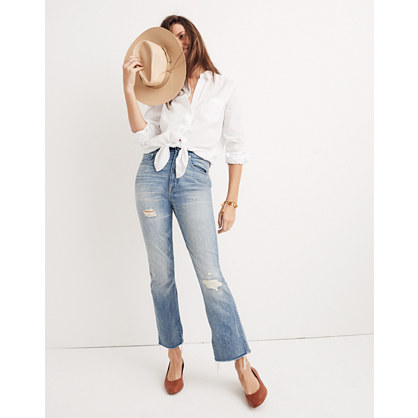 Pre-order Rigid Demi-Boot Crop Jeans