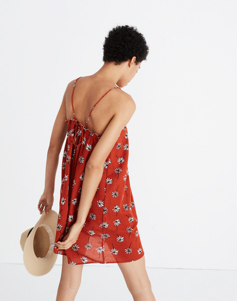 Tulum Cover-Up Dress in Fresh Daisies