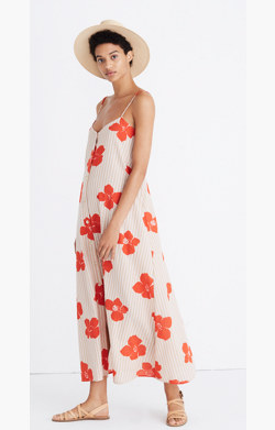 Morocco Cover-Up Maxi Dress in Candied Orchids