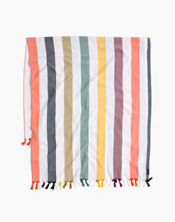 Madewell x Tavik® Beach Throw in Rainbow Stripe