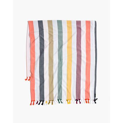 Madewell x Tavik® Beach Throw in Rainbow Stripe