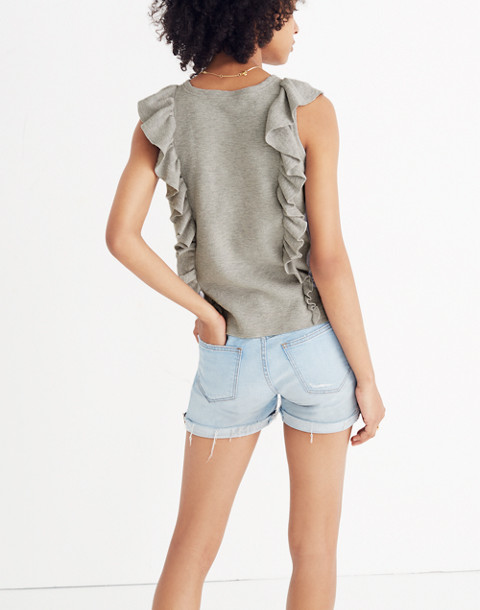 Ruffled Sweater Tank in hthr seagull image 3