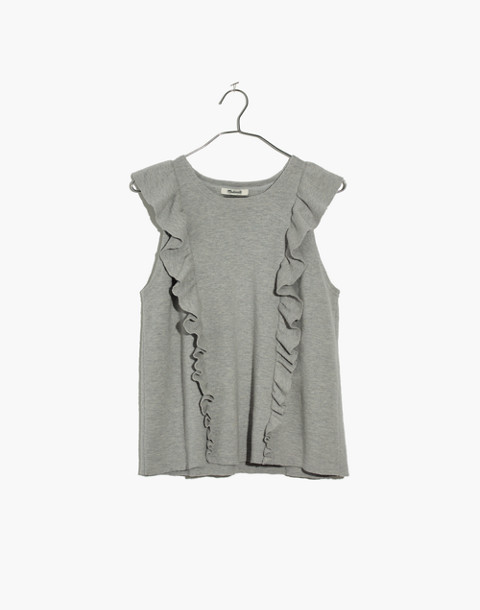 Ruffled Sweater Tank in hthr seagull image 4