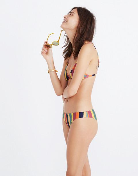 Madewell x Tavik® Ali Bikini Bottom in Rainbow Stripe