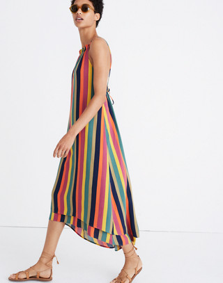 Madewell x Tavik® Lucca Cover-Up Dress in Rainbow Stripe