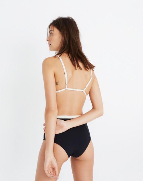 Tavik® Jett Color-Tipped Bikini Top in black tapioca image 3