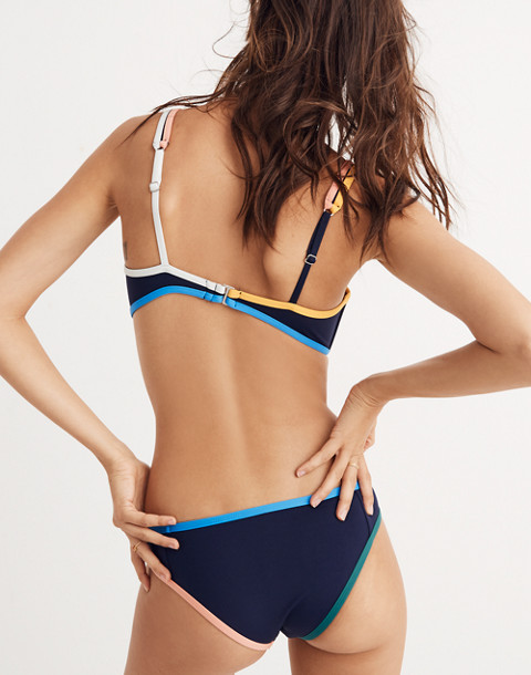 Tavik® Marlowe Henley Bikini Top in evening blue image 3