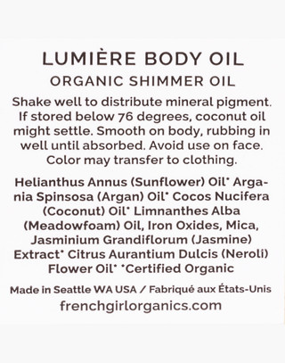 French Girl™ Lumiere Moonlight Body Oil in moonlight oil image 2