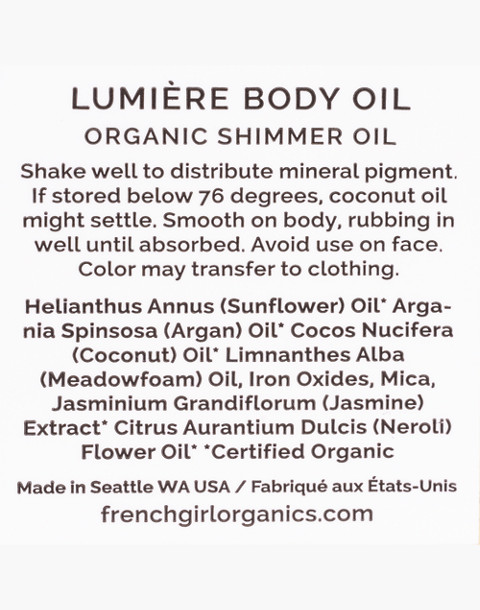 French Girl™ Lumiere Moonlight Body Oil