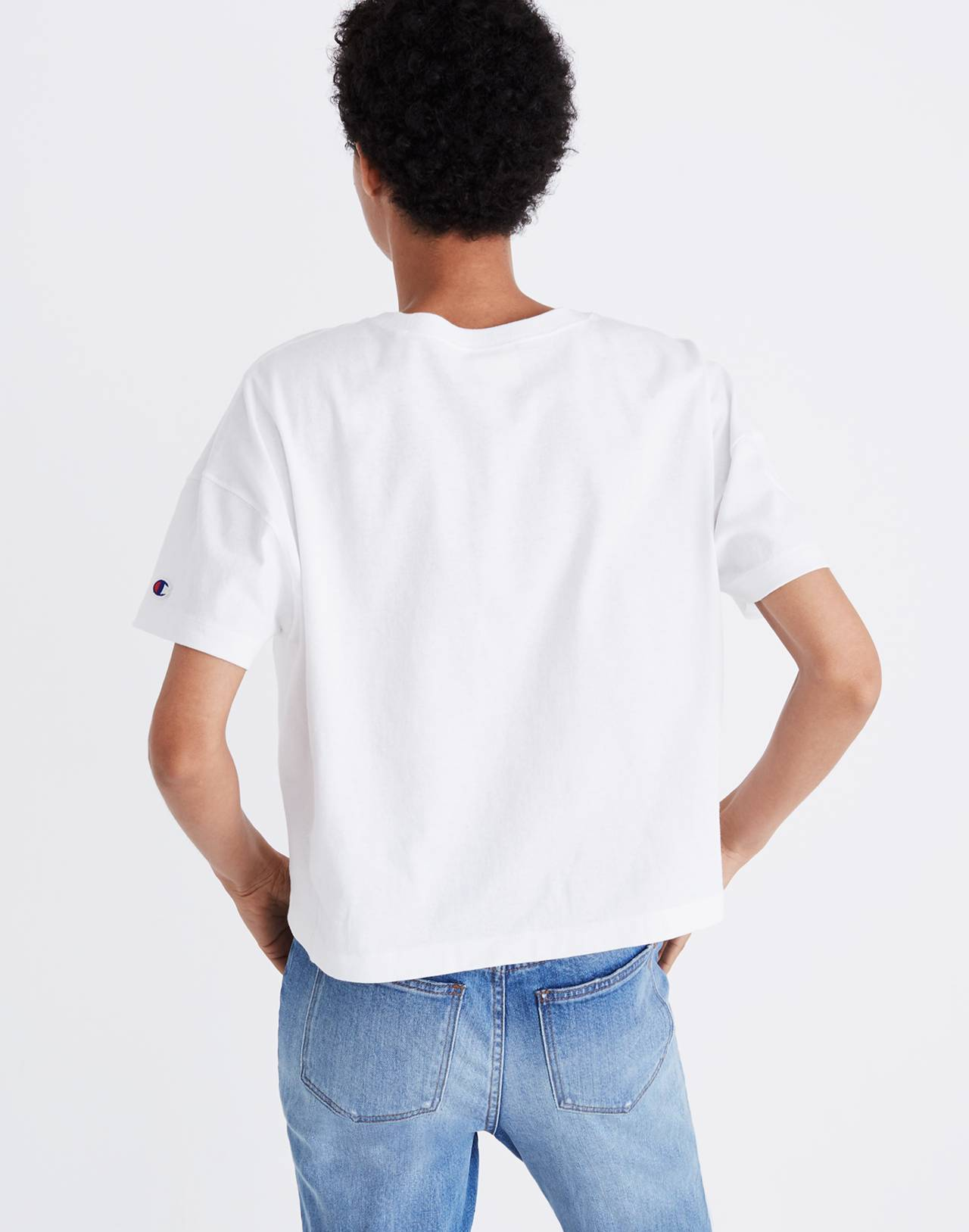 Champion® Oversized Tee in white image 2