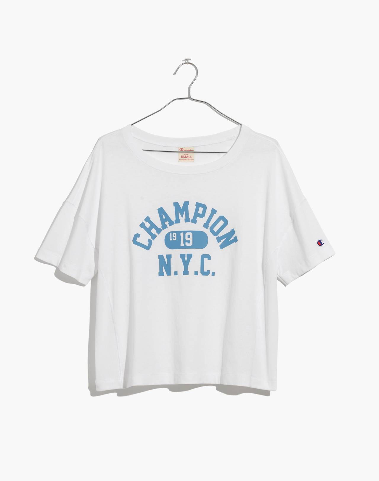 Champion® Oversized Tee in white image 4