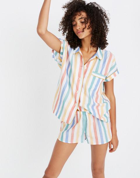 Bedtime Pajama Short in Stripe in ivory image 2