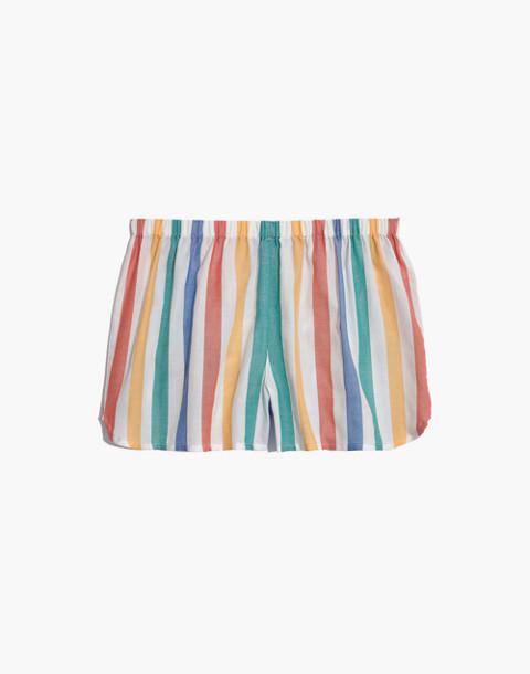Bedtime Pajama Short in Stripe in ivory image 4