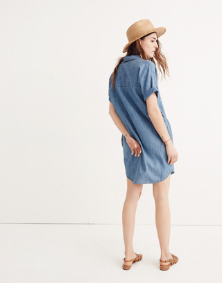 Denim Courier Shirtdress in Lauryn Wash