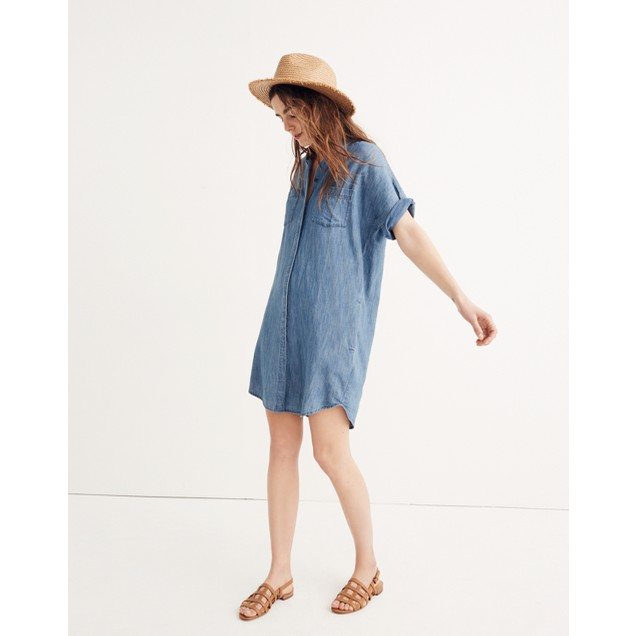f340dde57e Denim Courier Shirtdress in Lauryn Wash   shopmadewell casual dresses