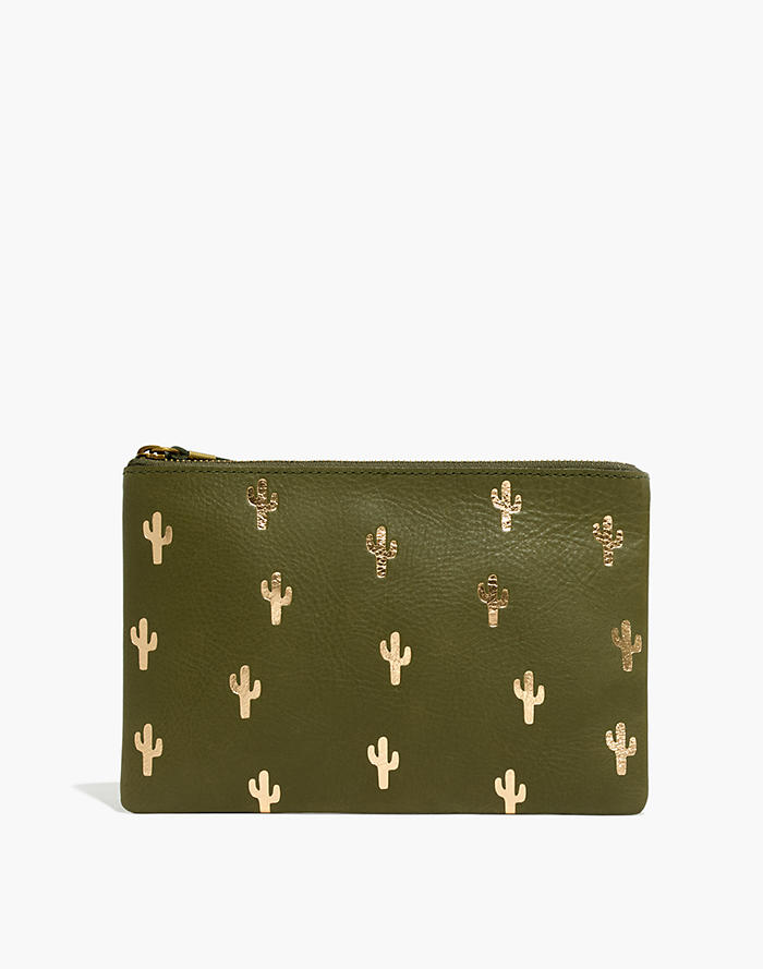 5022135894e6 The Leather Pouch Clutch: Cactus Embossed Edition