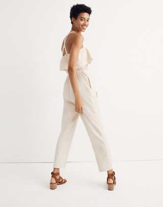 Apron Ruffle Jumpsuit in cloud lining image 3