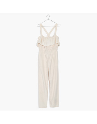 Apron Ruffle Jumpsuit in cloud lining image 4