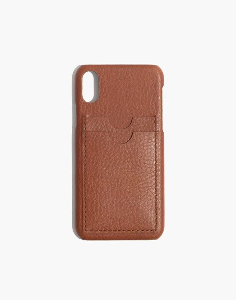 Leather Carryall Case for iPhone® X in english saddle image 1