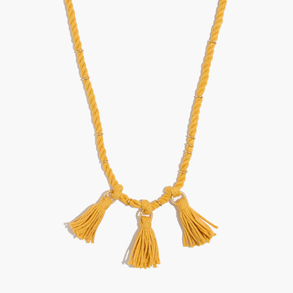 Tasseled Cord Necklace