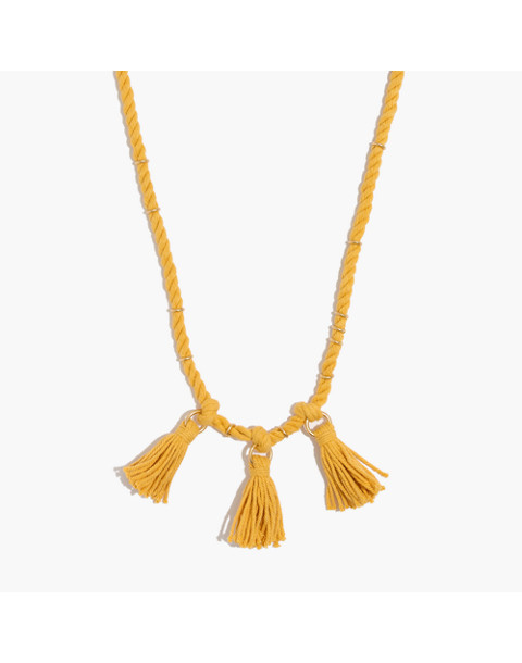 Tasseled Cord Necklace in nectar gold image 1