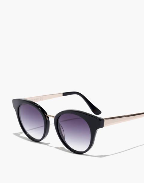 J.Crew Seaside Round Cat-Eye Sunglasses in black image 2
