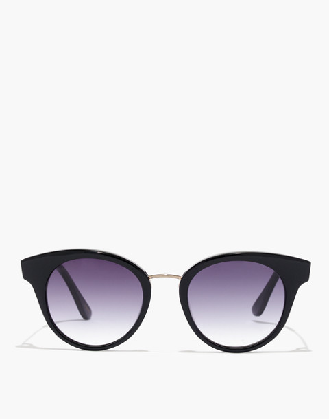 J.Crew Seaside Round Cat-Eye Sunglasses in black image 1
