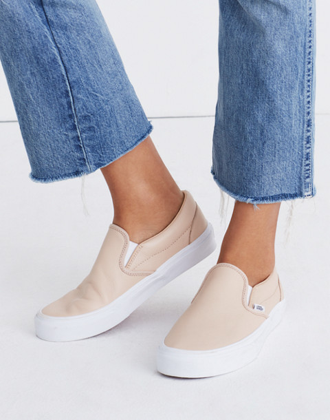 Vans® Unisex Classic Slip-On Sneakers in Frappe Leather