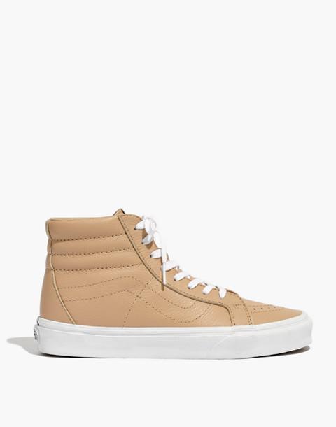 Vans® Unisex SK8-Hi Reissue High-Top Sneakers in Sesame Leather