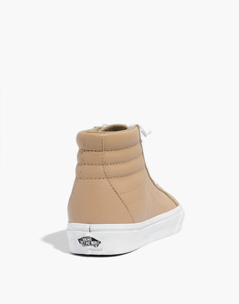 Vans® Unisex SK8-Hi Reissue High-Top Sneakers in Sesame Leather in sesame image 4