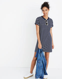 Striped Pocket Tee Dress