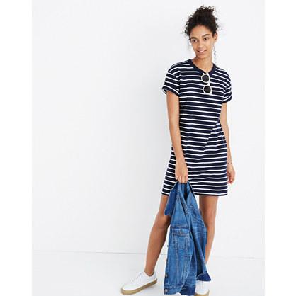 Striped Pocket Tee Dress
