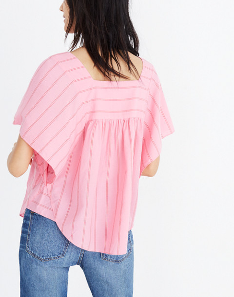 Butterfly Top in Cecilia Stripe in peony pink image 3