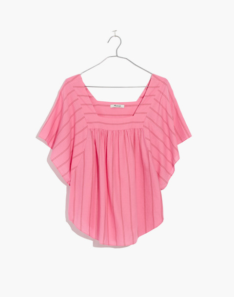 Butterfly Top in Cecilia Stripe in peony pink image 4