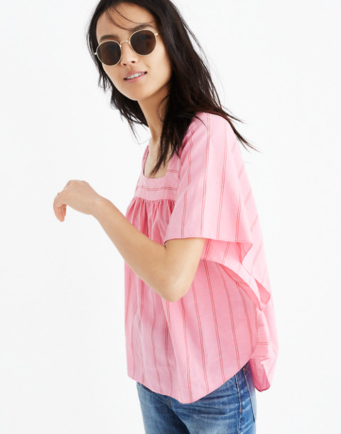 Butterfly Top in Cecilia Stripe in peony pink image 1