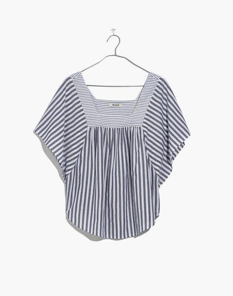 Butterfly Top in Stripe Play in retro indigo image 4