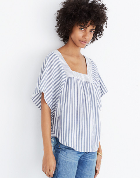 Butterfly Top in Stripe Play in retro indigo image 1