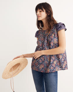 Story Top in Fan Floral Mix