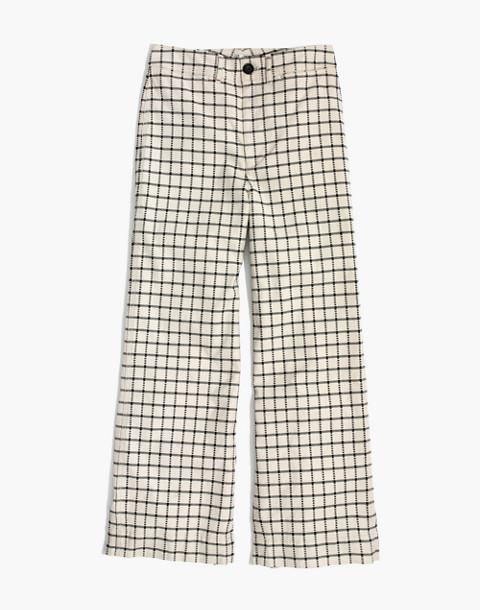 Emmett Wide-Leg Crop Pants in Windowpane