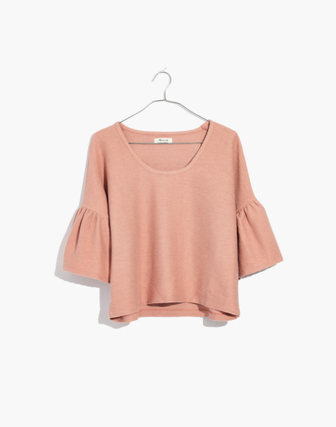 Texture & Thread Gathered-Sleeve Top