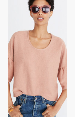 Gathered-Sleeve Top