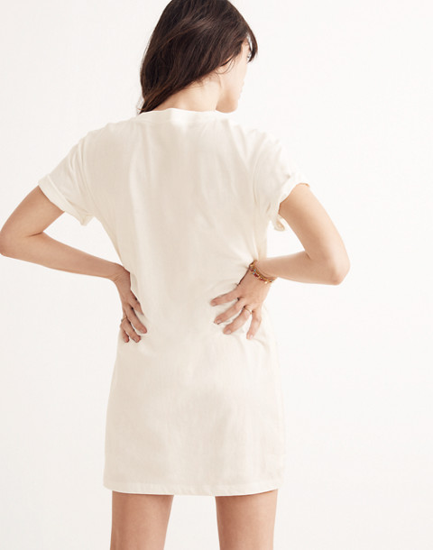 Pocket Tee Dress in bright ivory image 3