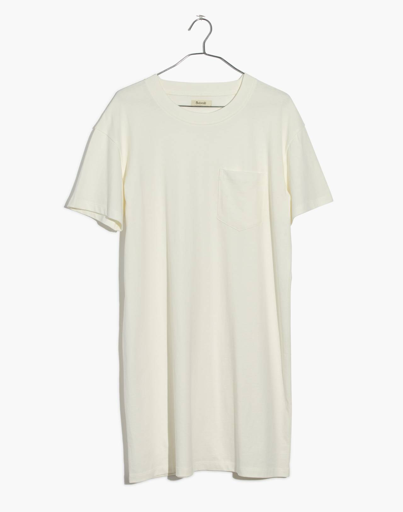 Pocket Tee Dress in bright ivory image 4