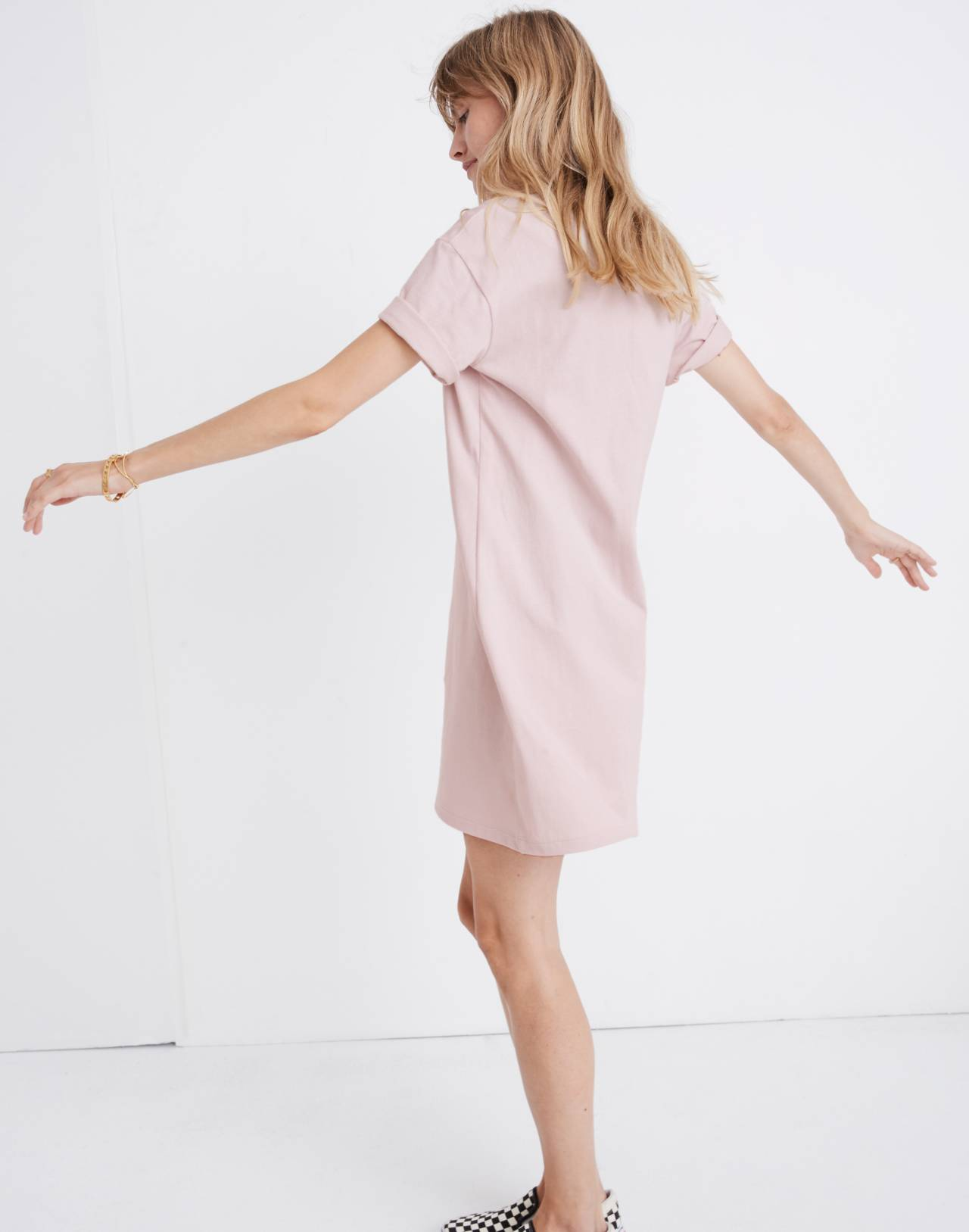 Pocket Tee Dress in wisteria dove image 2