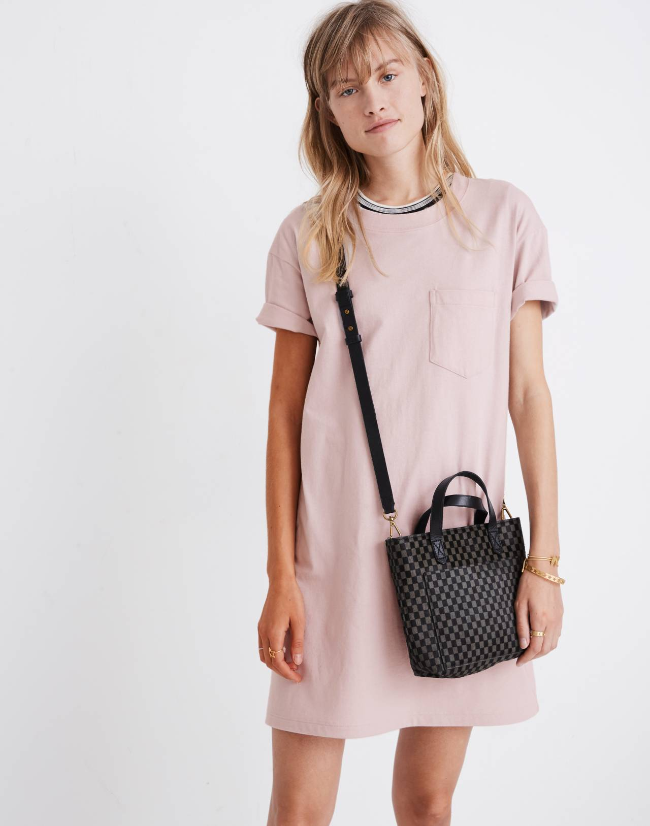 Pocket Tee Dress in wisteria dove image 1