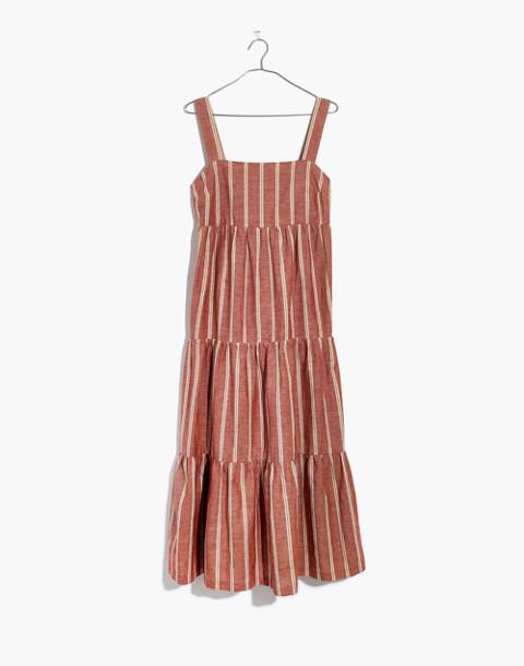 Seamed Midi Dress in Stripe