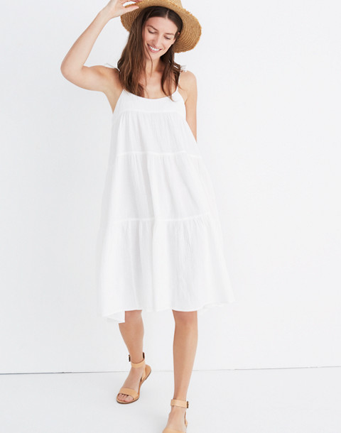 Maderas Cover-Up Dress in bright ivory image 2